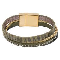 iXXXi Armband Brace multi Zebraprint gold