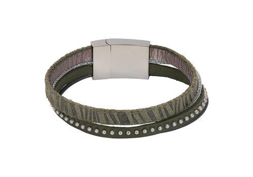 iXXXi Armband Brace multi Zebraprint  grün silber