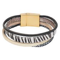 iXXXi Armband Brace multi Zebraprint weiß gold
