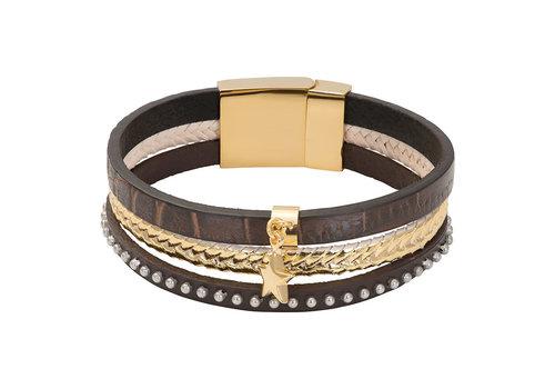 iXXXi Armband Brace trio Cobra braun gold