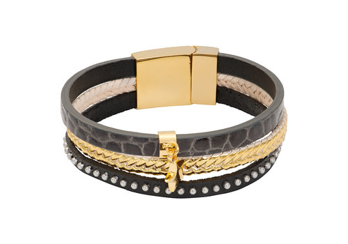 iXXXi Armband Brace trio Cobra grau gold