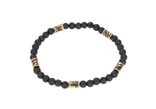 iXXXi Herren Armband Mali Zebra gold