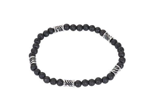 iXXXi Herren Armband Mali Zebra silber