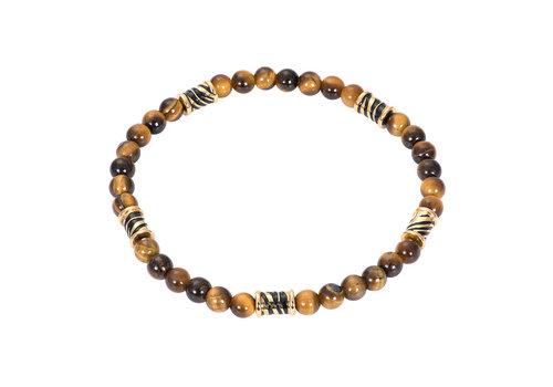 iXXXi Herren Armband Bracelets Kampala Zebra gold