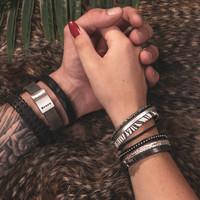 iXXXi Herren Armband Bracelets Kampala Zebra silber