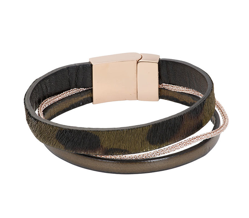 iXXXi Armband Brace trio Tiger grün rosegold