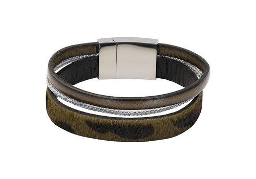 iXXXi Armband Brace trio Tiger grün silber