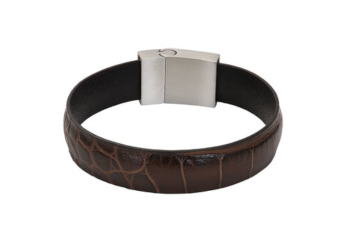 iXXXi Herren Armband Crocodile braun