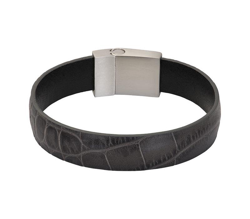 iXXXi Herren Armband Crocodile grau