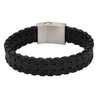 iXXXi Herren Armband geflochten schwarz