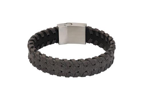 iXXXi Herren Armband  geflochten grau