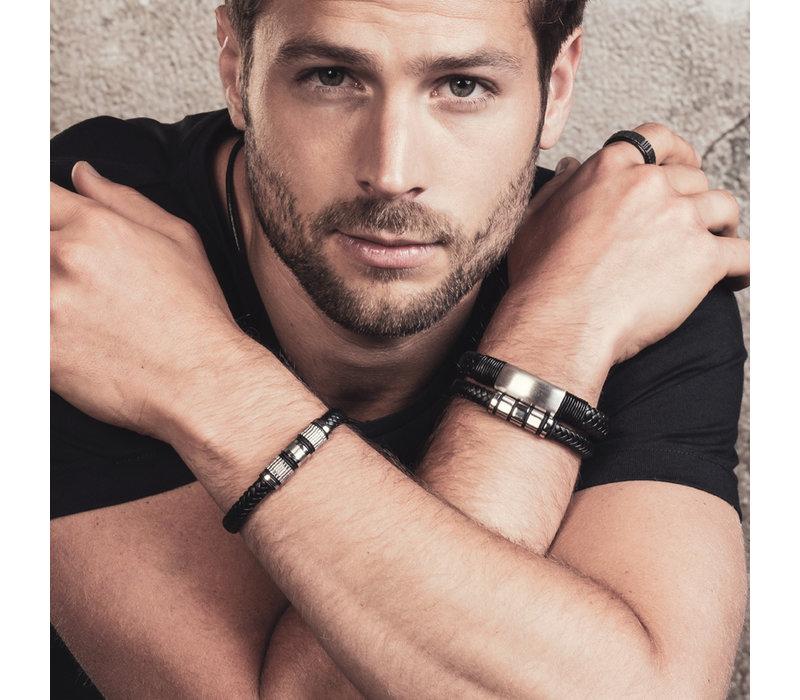 iXXXi Herren Armband leather Tyler schwarz