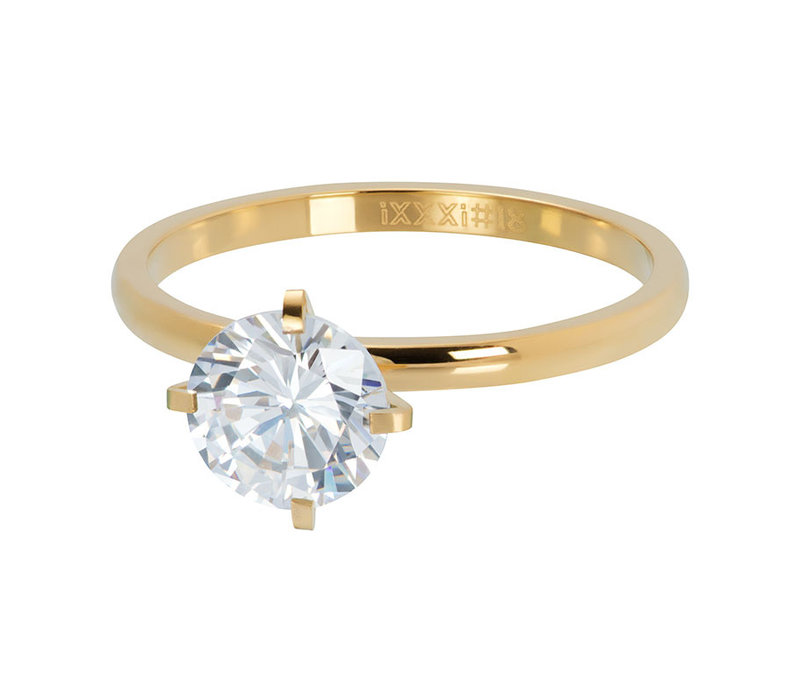 iXXXi Füllring 2 mm Secure crystal gold
