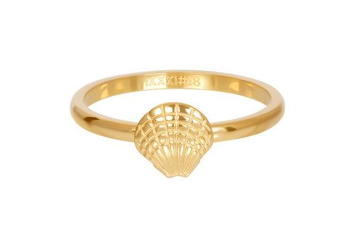Füllring 2 mm Symbol Muschel gold