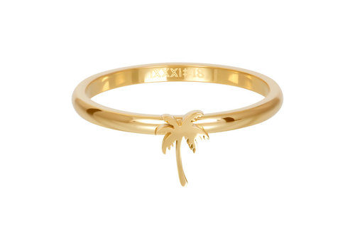Füllring 2 mm Symbol Palme gold