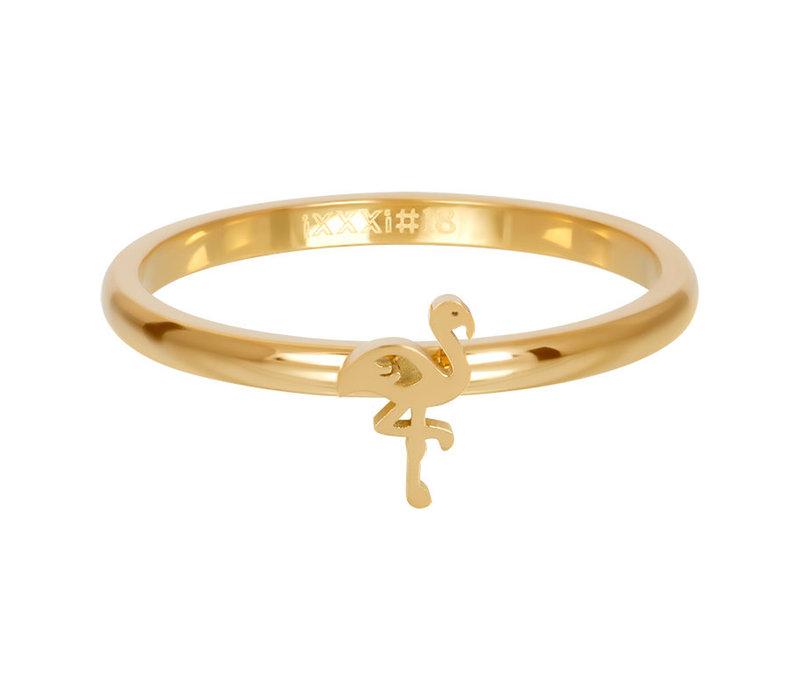 Füllring 2 mm Symbol Flamingo gold