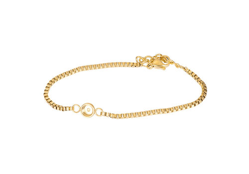 Armband Box Chain Top Part Base gold