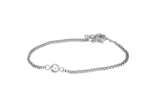 Armband Box Chain Top Part Base silber