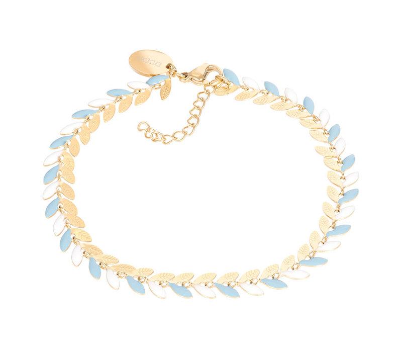 Armband Malediven blau gold