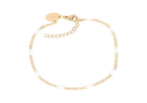 Armband Curacao weiß gold