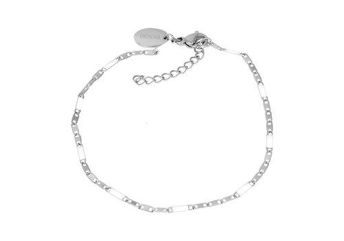 Armband Curacao weiß silber