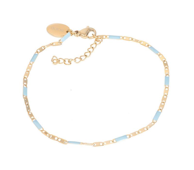 Armband Curacao blau gold