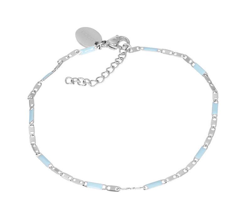 Armband Curacao blau silber