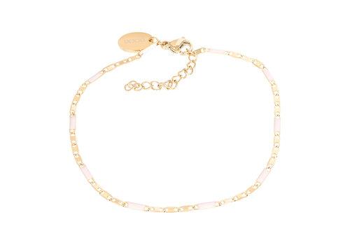 Armband Curacao rosa gold