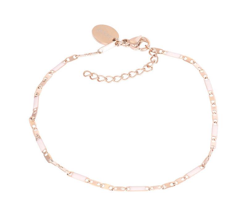 Armband Curacao rosa rotgold