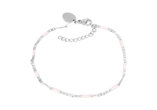 Armband Curacao rosa silber