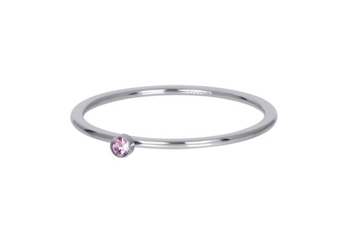 Füllring 1 mm Pink 1 stone crystal silber