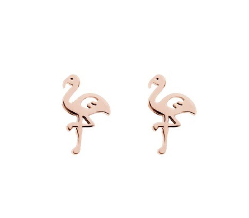 iXXXi Ohrstecker Flamingo rosegold