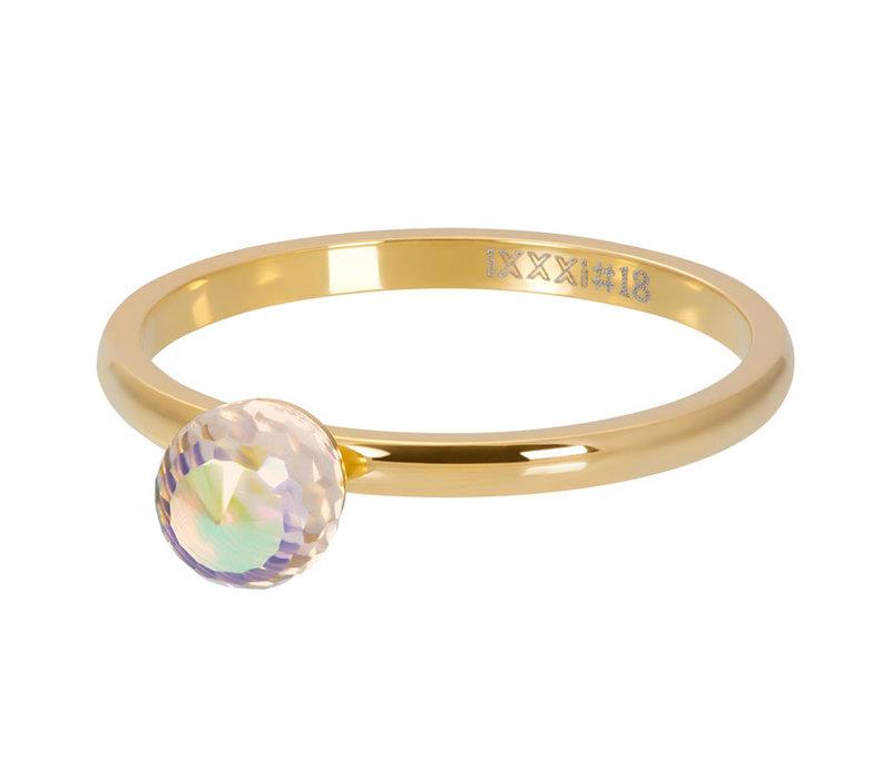 Füllring 2 mm Crystal Glass Ball AB gold