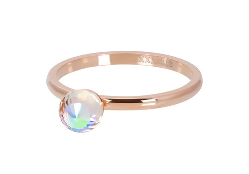 Füllring 2 mm Crystal Glass Ball AB rosegold