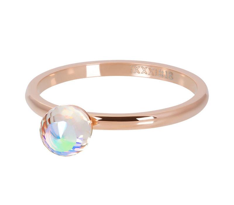 Füllring 2 mm Crystal Glass Ball AB rosegold