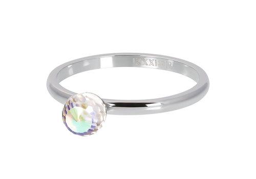Füllring 2 mm Crystal Glass Ball AB silber