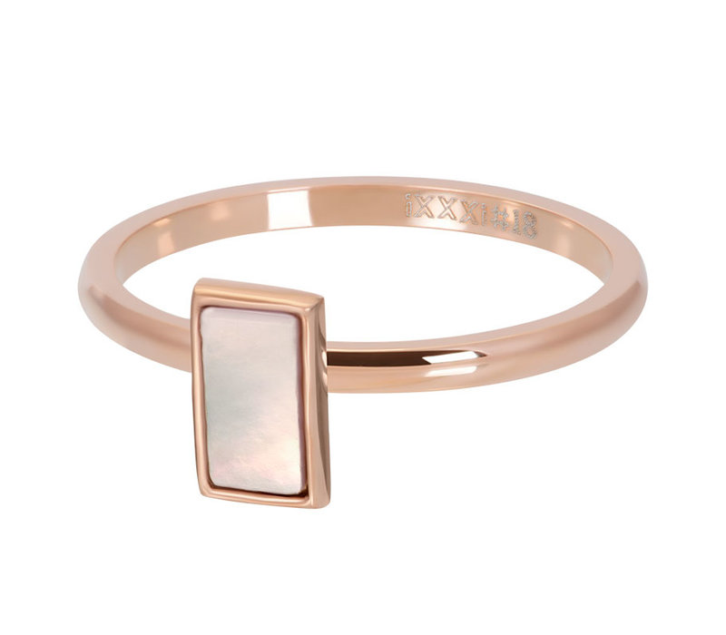 Füllring 2 mm Pink Shell Stone rosegold