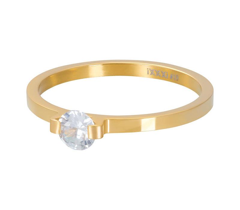Füllring 2 mm Mini Glamour Stone gold