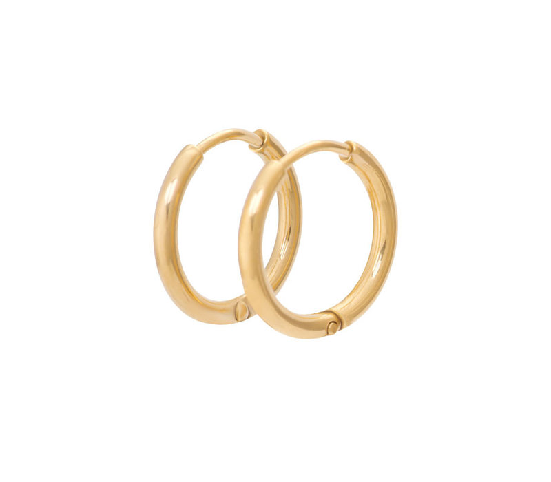 Ohrringe Creolen 15 mm gold