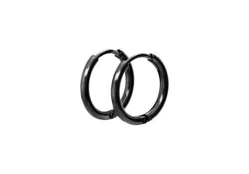 Ohrringe Creolen 15 mm schwarz