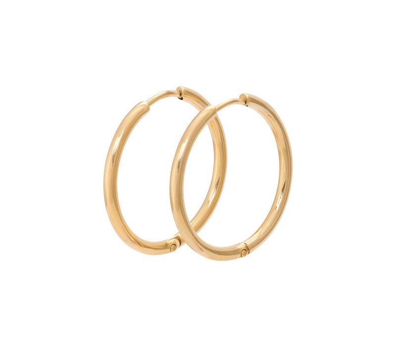 Ohrringe Creolen 24 mm gold