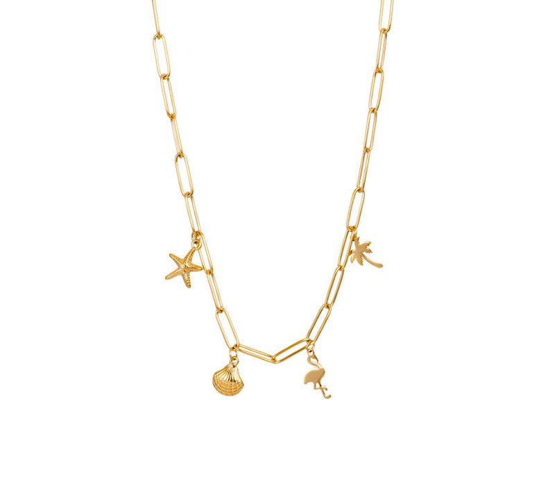 Halskette Charms gold 40 cm