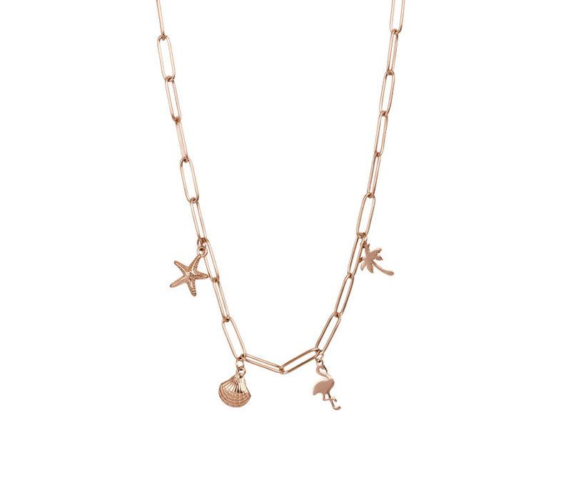 Halskette Charms rosegold 40 cm