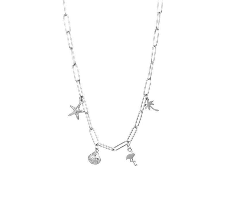 Halskette Charms silber 40 cm