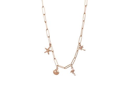 Halskette Charms rosegold 50 cm