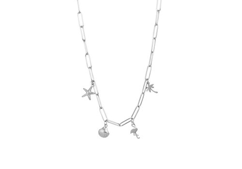 Halskette Charms silber 50 cm