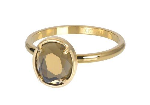 Füllring 2 mm Glam Oval Topaz gold