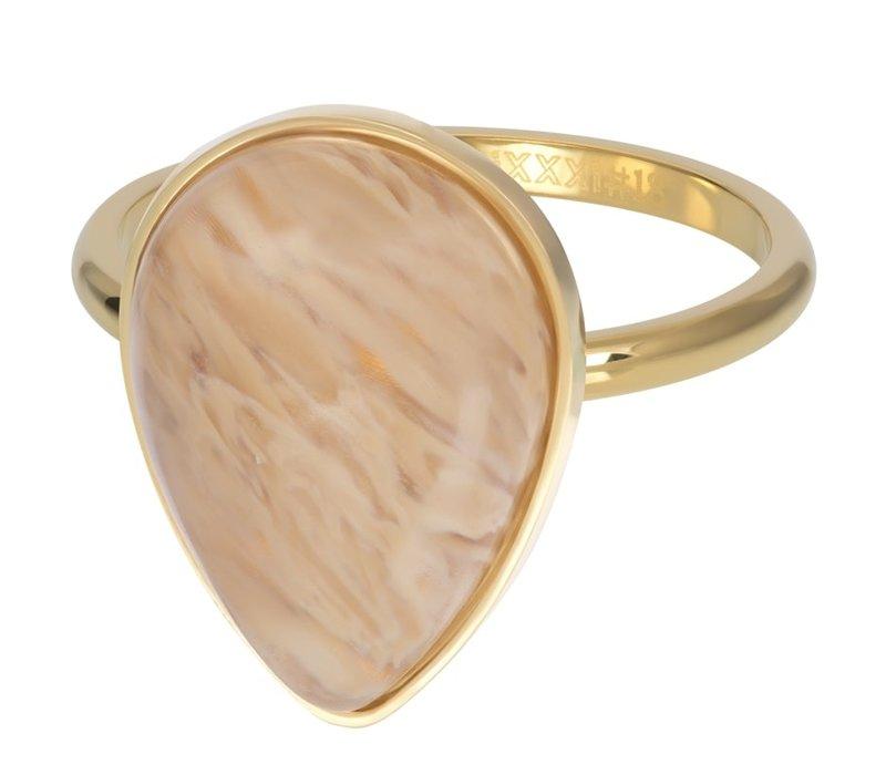 Füllring 2 mm Royal Stone Drop Topaz gold