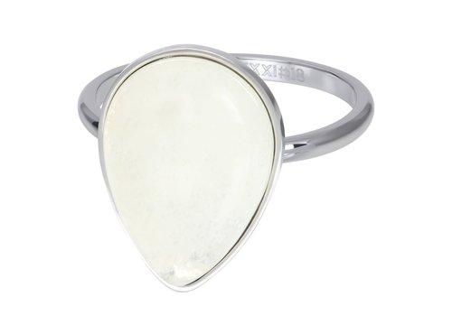 Füllring 2 mm Royal Stone Drop White silber