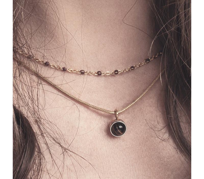 Halskette Collier Slim Ball 50+5cm gold
